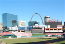 New Busch Stadium, home of the St. Louis Cardinals. Field by Perfect Play Fields and Links