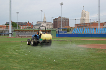 Athletic field and golf course maintenance services